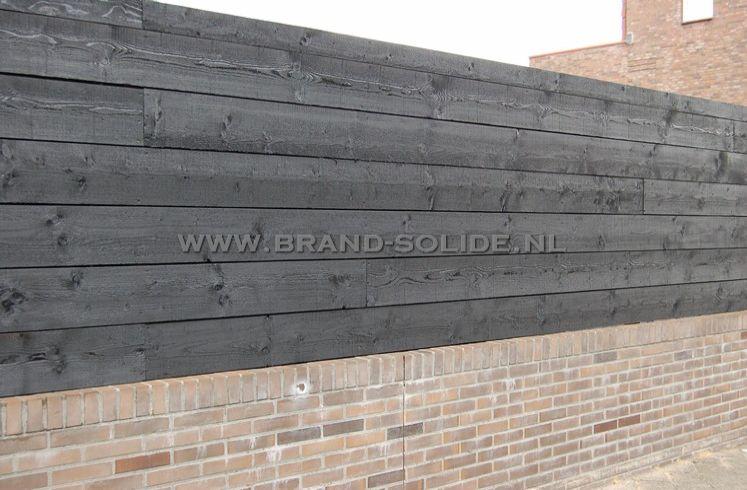 Fijnbezaagde potdekselplanken zwart brand solide - Planken zwarte ...