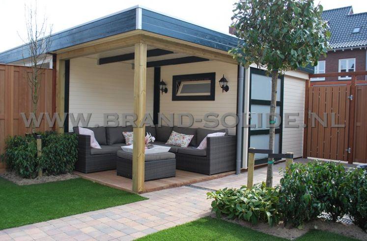 Onwijs Modern tuinhuis plat dak 300 x 250 overkapping 300 | Brand Solide LW-43