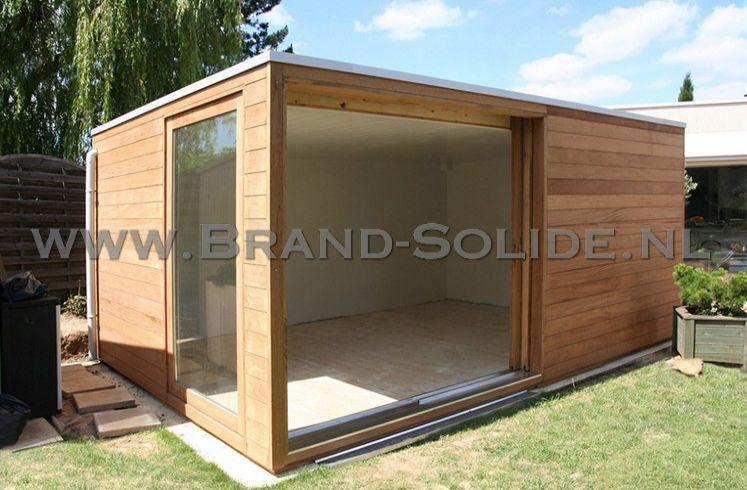 Verwonderlijk modern tuinhuis met glazen schuifdeuren   Brand Solide PT-04