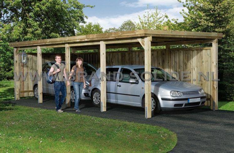 houten carport carport nevada iii 322 x 802