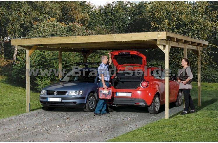 houten Carport Ontario 500 x 500 | Brand Solide