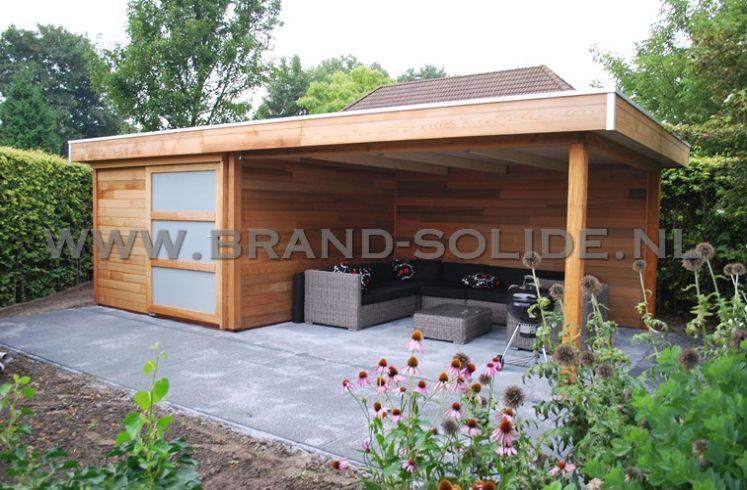 Terug naar het overzicht : Blokhut - Tuinhuis u0026gt; Modern tuinhuis plat ...