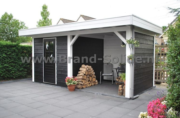 Berging overkapping 500 x 250 met berging brand solide for Berging met veranda