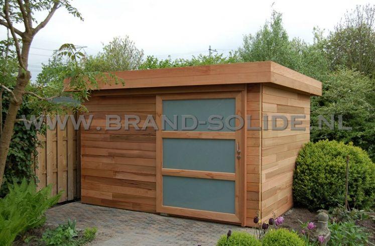 ... - Tuinhuis u0026gt; Modern tuinhuis plat dak u0026gt; Modern 2015 Ceder 350 x 300