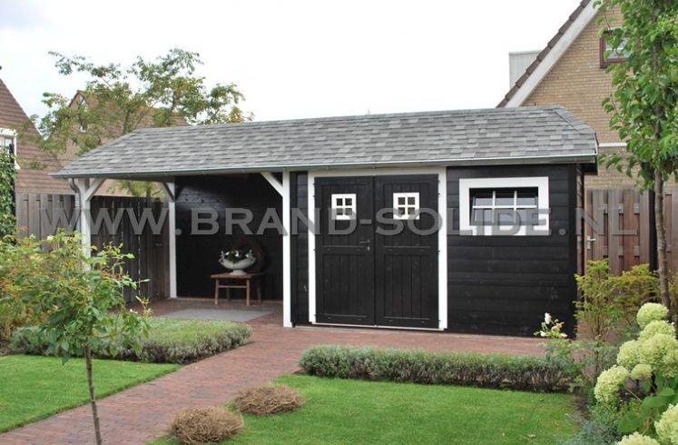 Wonderlijk Tuinhuis Cottage 300 x 350 + luifel 300 x 350 | Brand Solide FR-69