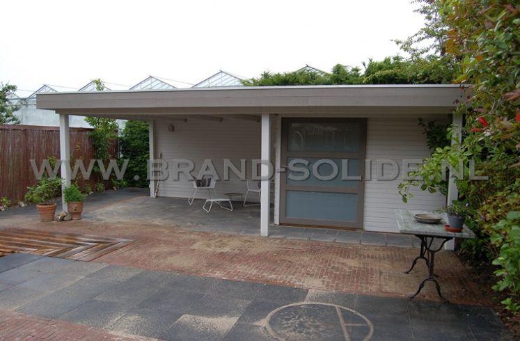 modern tuinhuis plat dak 300 x 250 luifel 400 100 dit moderne tuinhuis ...