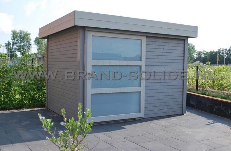... Blokhut - Tuinhuis u0026gt; Modern tuinhuis plat dak u0026gt; Modern 2015 300 x 250