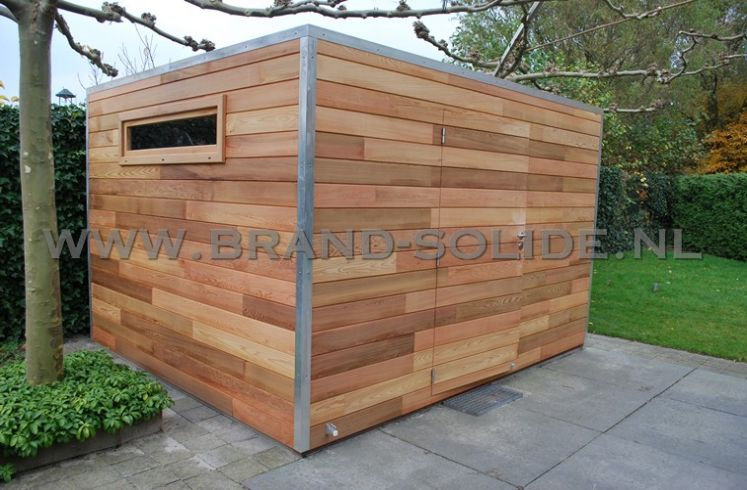 ... : Blokhut - Tuinhuis u0026gt; Modern tuinhuis kubus u0026gt; kubus ceder 350 x 300