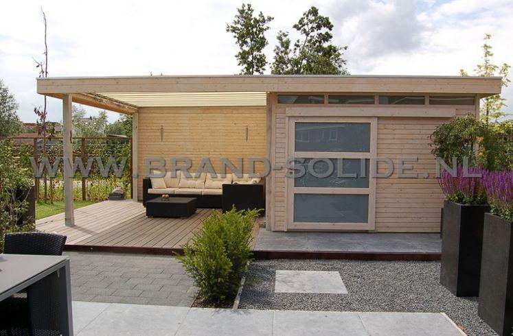 ... tuinhuis modern tuinhuis plat dak modern 2015 3 5 x 4 luifel 350