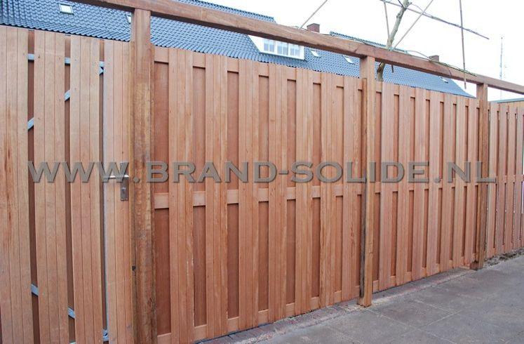houten schutting hardhout