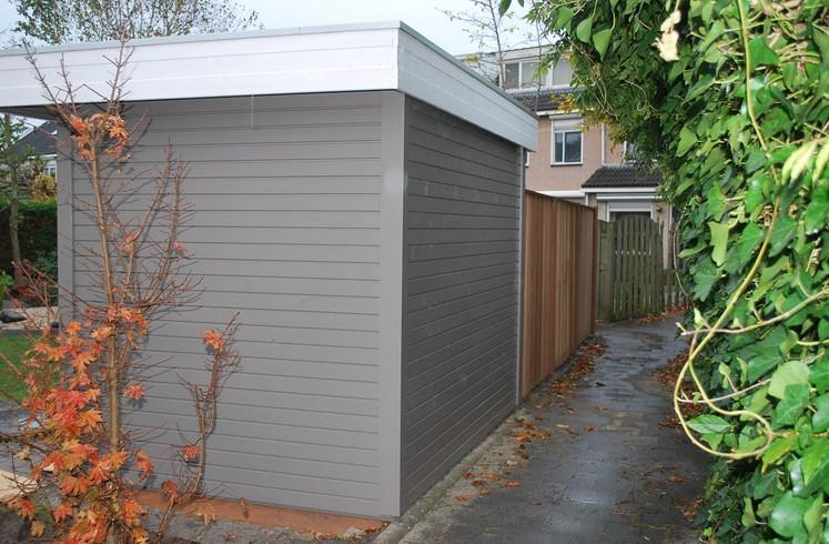 Uitgelezene Modern tuinhuis plat dak 300 x 200 deur raam   Brand Solide AK-56
