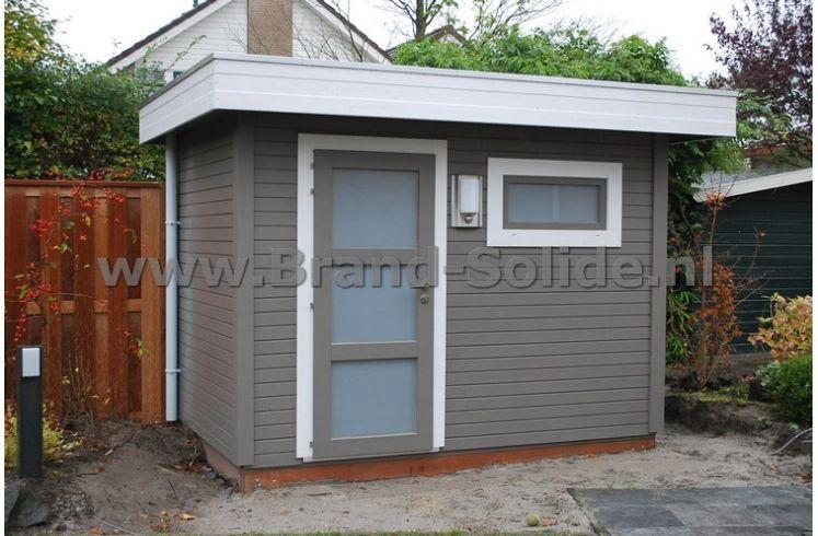 modern tuinhuis plat dak 300 x 200 deur raam brand solide. Black Bedroom Furniture Sets. Home Design Ideas