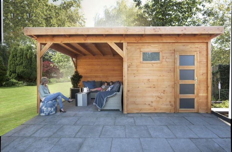 Douglas tuinhuis raaf met luifels brand solide
