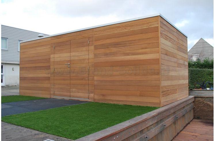 ... : Blokhut - Tuinhuis u0026gt; Modern tuinhuis kubus u0026gt; Kubus Iroko 600 x 300