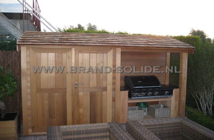 Tuinkast Monaco Ceder met aanbouw   Brand Solide